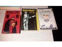 Three Manga Books