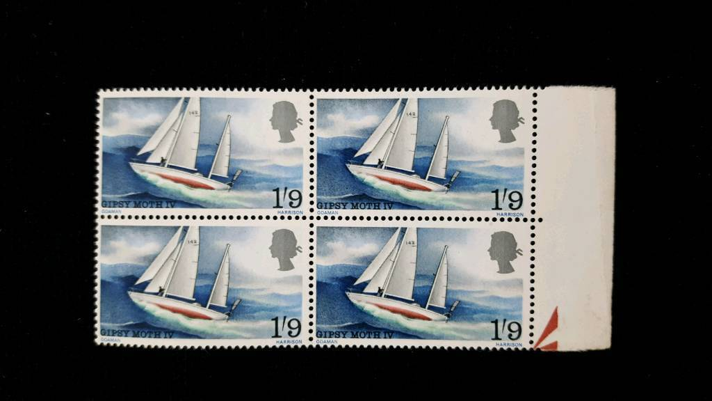 BLOCK OF 4 GIPSY MOTH 1/9 STAMPS