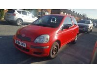 TOYOTA YARIS MANUAL 3 DOORS DRIVES EXCELLENT FULL SERVICE HISTORY ONLY 66,000 MILES,LIKE NEW
