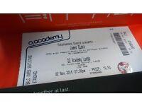 2 X James Blake Tickets