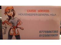 Carsie Services Housekeeper/ General Help