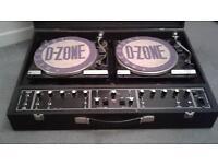 VINTAGE DISCO EQUIPMENT..... TWIN DECK DJ PROFESSIONAL CONSOLE WITH BSR DECKS