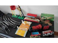 old tin hornby train set working with key