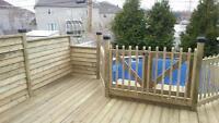 Patio, balcon et clôture en bois traité!!!