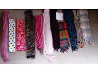 Large selection of ladies scarves