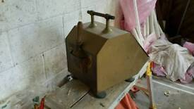 Brass coal scuttle with shovel