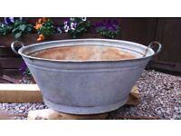Vintage Tin bath / Garden planter