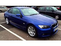 BMW Series 320d Coupe M SPORT LEMANDE BLUE manual Extras BARGAIN!!!
