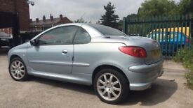 Low mileage 1.6 Peugeot 206cc convertable