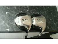 LOVELY PAIR OF TAYLORMADE R580 WOODS