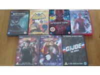 Dvds Spiderman, Batman, Doctor Who and GiJoe