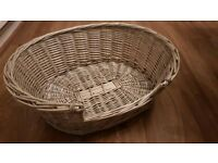 Cat wicker basket