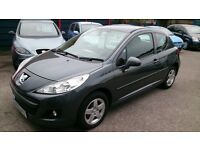 2010 PEUGEOT 1.4 - 207 VERVE 3 DOOR HATCH MET GREY JULY 2017 MOT 79K F/S/H NEW TIMING BELT CD ALLOYS
