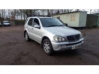 Mercedes ml 7 seater, diesel, automatic, 115k miles, 2003, sat nav, sunroof, huge spec