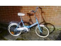 Retro Raleigh Universal Vintage Folding Bike / Shopper