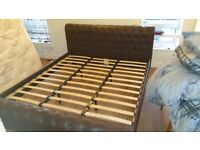 Free Superking Leather Sleigh Bed Frame
