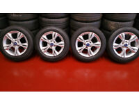 Ford Genuine 16 alloy wheels like new + 4 x tyres 215 55 16 Michelin Primacy