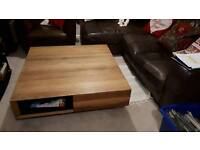 Beautiful Large Solid Wood Coffee Table with Storage