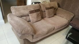 Modern cloth 2 x 3seater sofas from dfs.