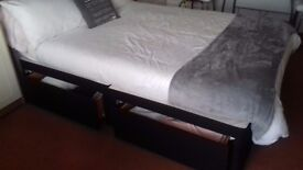 Double bed divan with 2 drawer