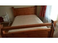 Pine Wood very good condition King Size bed