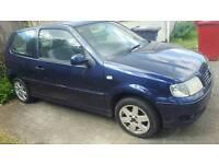 VW polo S.E auto . Royal blue car