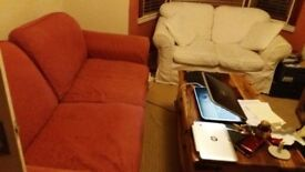 3 and 2 seater oldschool sofas with removable washable covers need gone ASAP