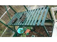 Greenhouse potting planting table in good condition
