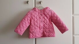 Baby Girl Autumn Hooded Jacket (12 to 18 months) - Brand: Next - Pink – £8