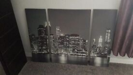 Large New York wall canvas