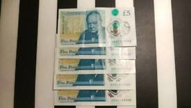 New 5 pounds note