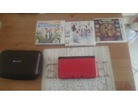 Red nintendo 3ds xl plus games