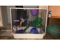 LARGE FERPLAST RAT/HAMSTER CAGE WITH LOTS OF ACCESSORIES