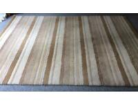 Large Striped Wool-Mix Rug