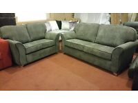 PHOENIX HAND MADE 3+2 FABRIC SOFA IN HIGH QUALITY SPRING BASE AND FIRM FOAM SEATS BRAND NEW £399