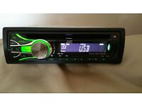 CAR HEAD UNIT JVC CD MP3 PLAYER WITH USB AUX AND RCA PRE OUT 4 x 50 WATT STEREO AMPLIFIER AMP