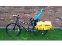 "Kona Ute 20"" Cargo Bike with Yepp Maxi Child Seat"