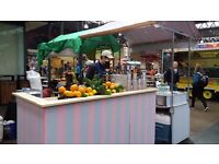 part time juice stall assistant at Old Spitalfields street food market