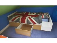 Ikea - single bed with under draws