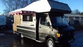 Mercedes 207D Snack Van / Food Truck Low Mileage 2017 conversion