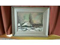 Signed van loock oil to canvass painting.