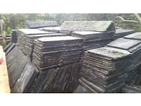 "Reclaimed Hardrow Concrete Roof Tiles 18"" x 12"" 50% Discount on job lot bulk buy"