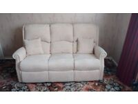 AS NEW SOFA AND RECLIMER ARM CHAIR