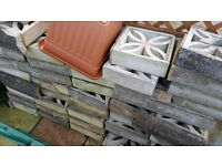 40 + concrete screen wall blocks used bargain price garden driveway etc