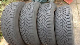 MUD AND SNOW, WINTER TYRES (4) and WHEELS (4) v.g.c !!! BARGAIN !!!
