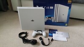SONY PLAYSTATION 4 PRO CONSOLE 1TB WHITE - please read description.