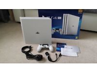 SONY PLAYSTATION 4 PRO CONSOLE 1TB WHITE - please read description.