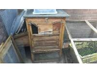Chicken coop with run and egg house