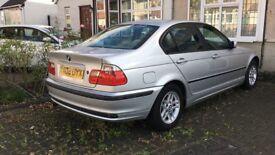 BMW 3 SERIES PETROL 4 DOOR SILVER AUTO SALOON 2L 2000 CLEAN CAR GOOD CONDITION