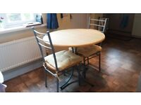90 cm round table and 4 chairs